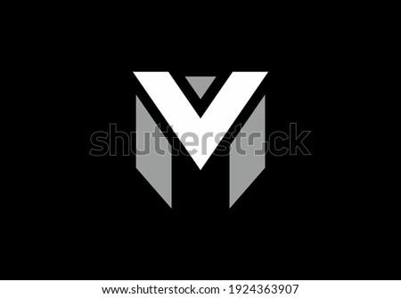 MV or VM initial letter design Stock fotó ©