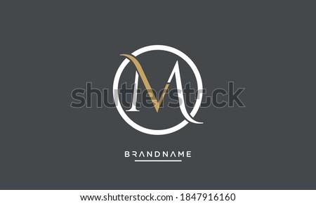 MV, VM, M, V Abstract Letters logo Emblem Monogram Stock fotó ©
