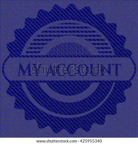 My account badge with denim texture