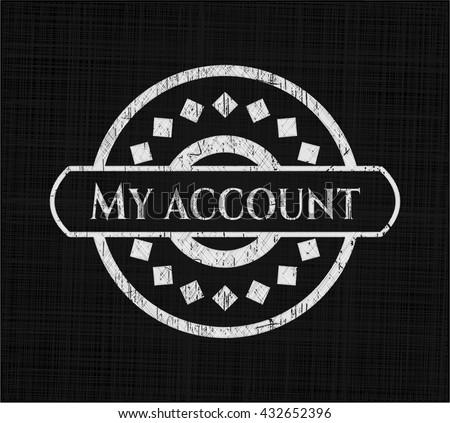 My account chalk emblem