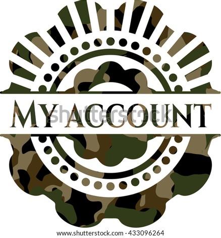 My account on camo texture
