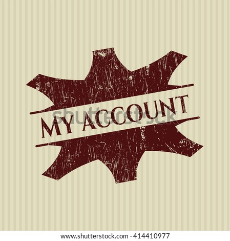 My account rubber grunge texture seal