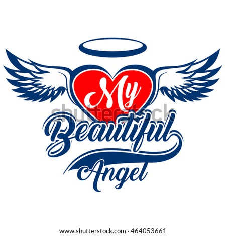 my beautiful angel vector t