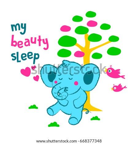 my beauty sleep elephant