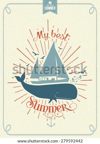 my best summer vintage vector
