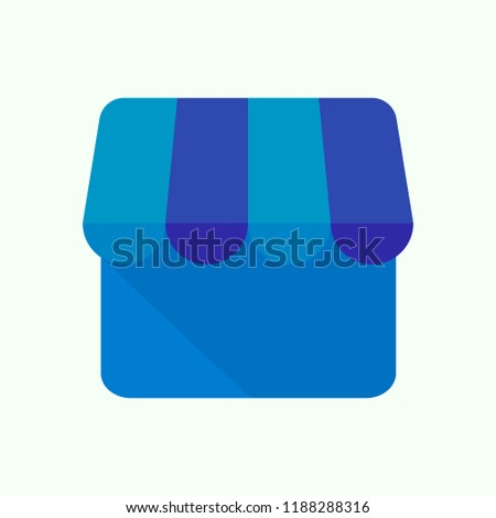 My business icon. Shop icon. Vector illustration. EPS 10