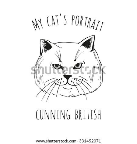 my cat's portrait  cunning