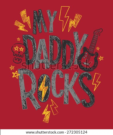 my daddy rocks baby toddler