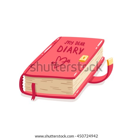 my dear diary cartoon vector