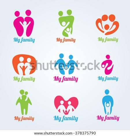 my family people modern logo