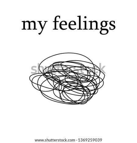 my feelings modern fashion slogan for t-shirt and apparels tee graphic vector print .Vector