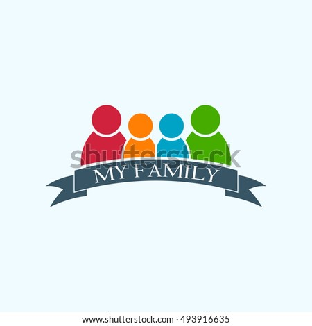my happy family logo vector