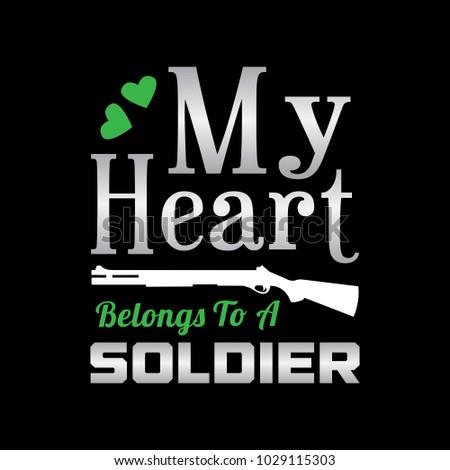 my heart belongs to a soldier