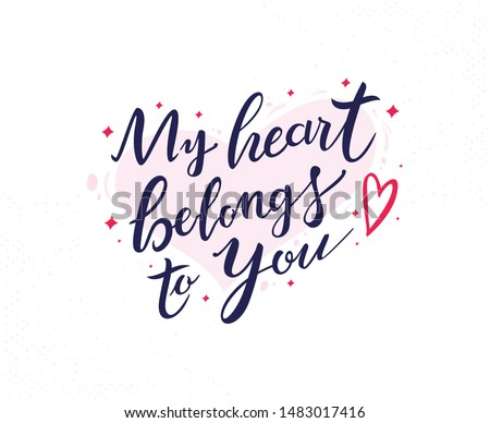 my heart belongs to you hand