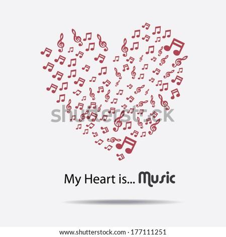 my heart is music  i love music