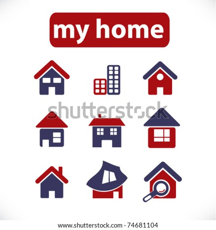 my home & house icons, vector ストックフォト ©