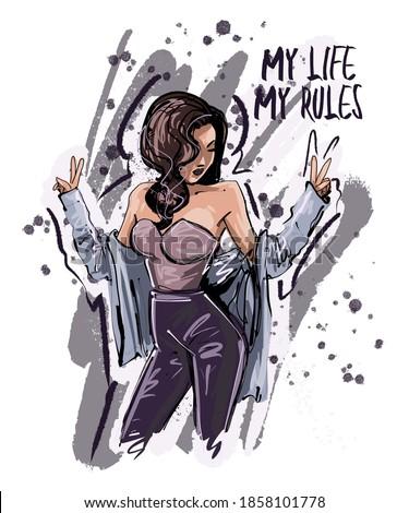 my life my rules slogan hand