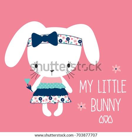 my little bunny girl  happy