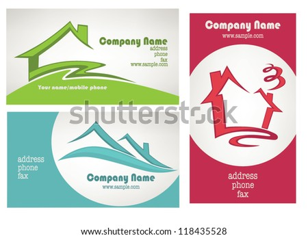 Real estate card vector designs download free vector art stock my little home vector collection property and real estate business cards reheart Choice Image