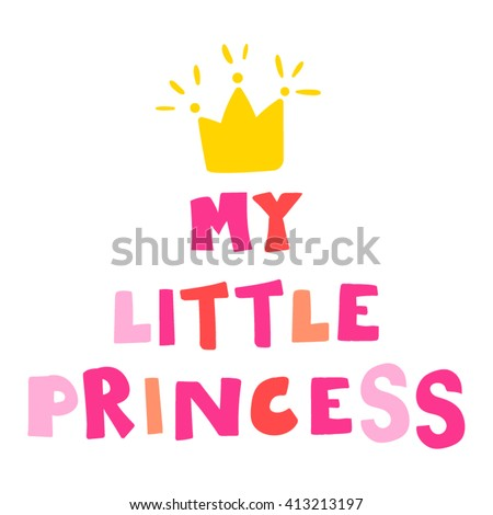 my little princess inscription