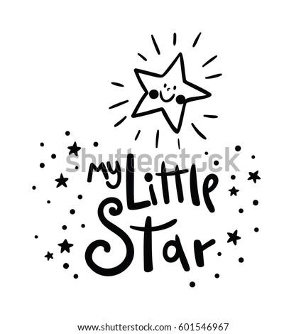 my little star card bright