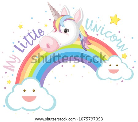 my little unicorn and rainbow