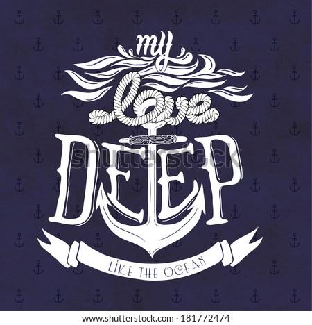my love deep like the ocean