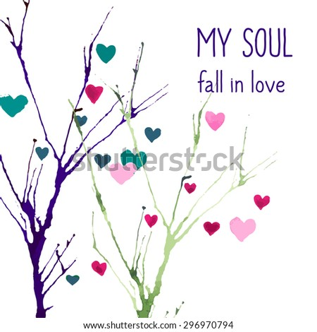 my soul fall in love abstract