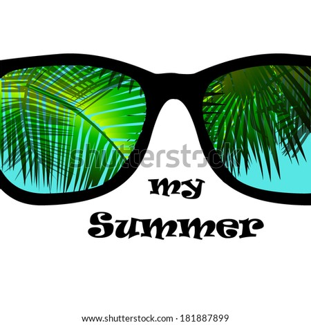 my summer glasses reflection of