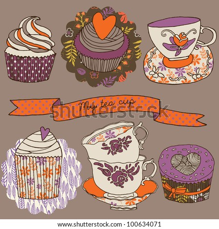 My Tea Cup - stock vector