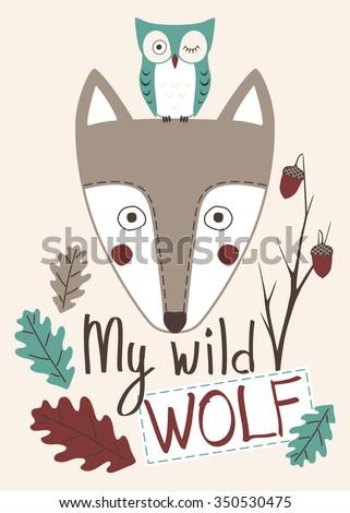 my wild wolf cute children's