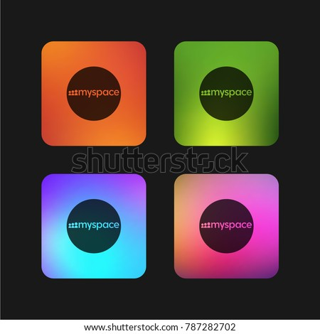 Myspace logotype four color gradient app icon design