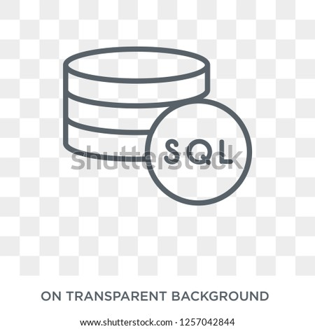 Mysql icon. Trendy flat vector Mysql icon on transparent background from Programming collection. High quality filled Mysql symbol use for web and mobile