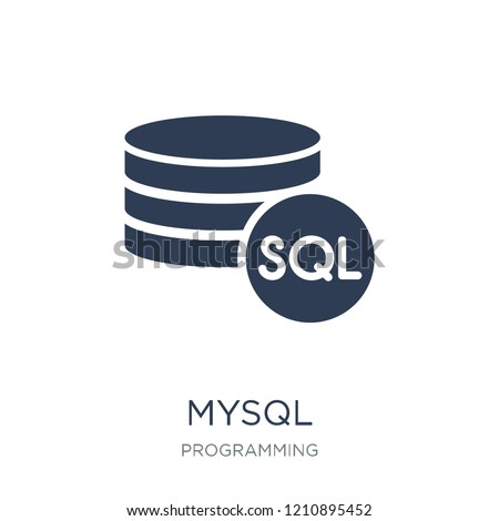 Mysql icon. Trendy flat vector Mysql icon on white background from Programming collection, vector illustration can be use for web and mobile, eps10
