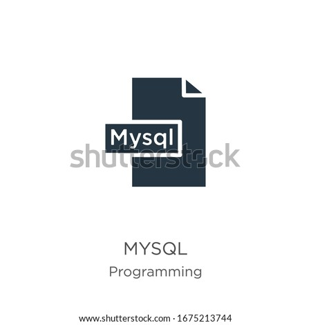 Mysql icon vector. Trendy flat mysql icon from programming collection isolated on white background. Vector illustration can be used for web and mobile graphic design, logo, eps10