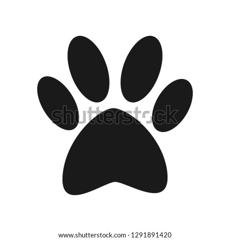 Mysterious black trace of an unknown animal on a white background