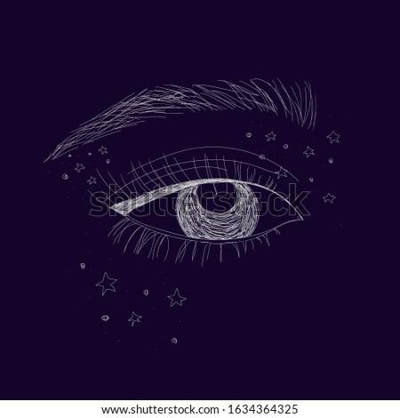 mysterious eye in a fairy tale