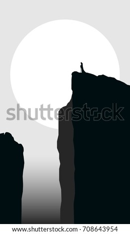 mysterious landscape with