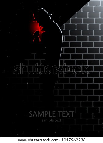 mysterious man with hat lighting up cigar in dark alley at night, cinematic urban vector