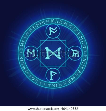 mysterious pagan magic ritual