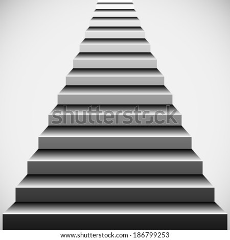 Mysterious stairs vector #186799253