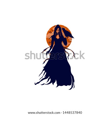 mysterious witch woman with