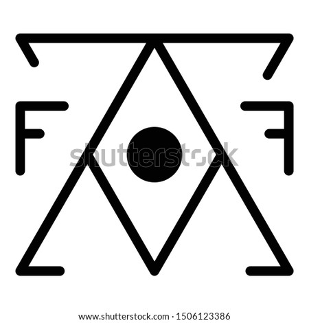 Mystery alchemy pyramid icon. Outline mystery alchemy pyramid vector icon for web design isolated on white background