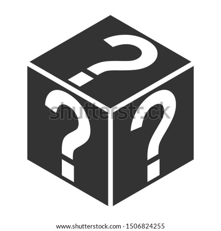 Mystery box flat vector icon for games and apps