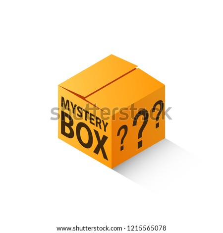 Mystery box isometric icon. Clipart image isolated on white background