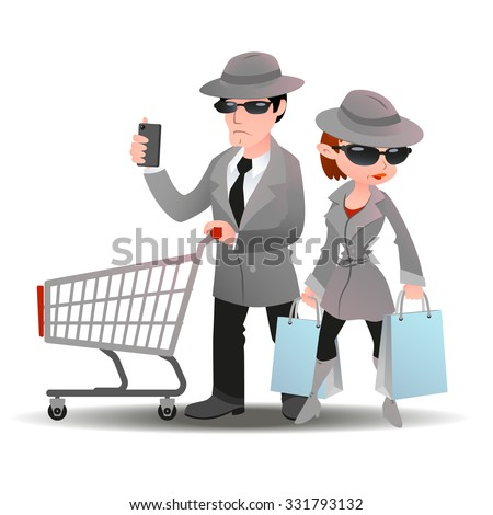 mystery shopper man with