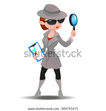 mystery shopper woman in spy