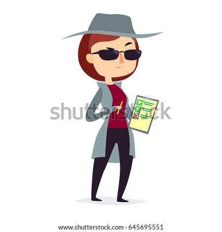 mystery shopper woman in spy