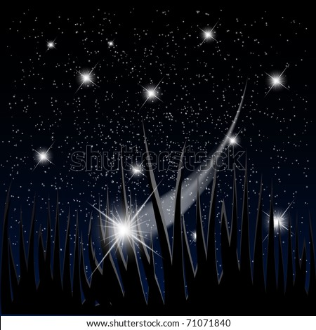 Mystery space background with bright stars fall down. EPS10 vector illustration
