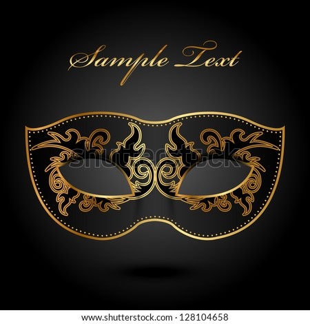 Mystery - vector background with ornate mask